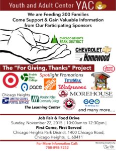 For Giving, Thanks | Youth and Adult Center